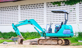 Błękitny buldożer Fotografia Royalty Free