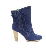 błękitny buta kobiety shammy Obraz Stock