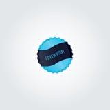 Błękitny butelki nakrętki wektorowy projekt Zdjęcia Stock