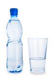 błękitny butelki szkła odosobniona mała woda Fotografia Royalty Free