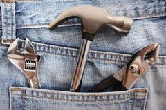 błękitny cajgu narzędzie Zdjęcie Stock
