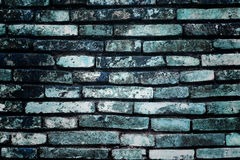 Błękitny cegły ściany tło Fotografia Royalty Free