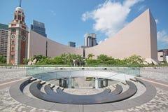 błękitny centre kulturalny Hong kong nad sk Zdjęcia Stock