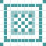 błękitny ceramicznej płytki biel Obraz Stock