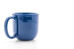 Błękitny ceramiczny kubek zdjęcia royalty free