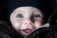 błękitny chłopiec ja przyglądał się Zdjęcia Stock