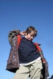 błękitny chłopiec target1803_0_ niebo Zdjęcia Stock