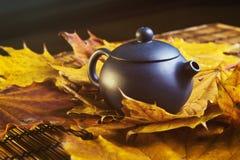 Błękitny Chiński teapot Zdjęcia Stock