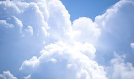 Błękitny chmury zdjęcia royalty free