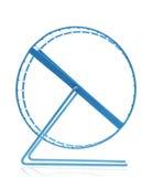 Błękitny chomikowy koło Obraz Stock
