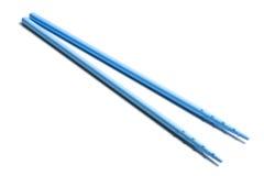 błękitny chopsticks odizolowywali biel Obrazy Stock