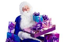 błękitny Claus przedstawia Santa Zdjęcia Stock