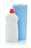 błękitny cleaner papierowy ręcznik Zdjęcia Stock