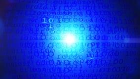 Błękitny cyfrowy binarnych dane tło ilustracji