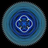 Błękitny cyfrowy mandala Obrazy Stock