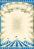 błękitny cyrkowy rocznik Obraz Stock