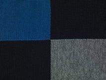 Błękitny, czarny i popielaty w kratkę tło, Obraz Royalty Free
