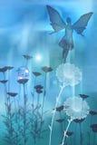 błękitny czarodziejka ilustracja wektor