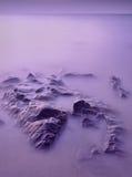 błękitny czekoladowy purpurowy zmierzch Fotografia Royalty Free