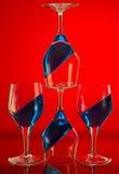 błękitny czerwień Fotografia Royalty Free