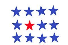 błękitny czerwieni gwiazdy Zdjęcia Stock