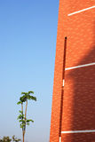 błękitny czerwieni nieba ściana Zdjęcia Stock