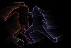 błękitny czerwieni piłki nożnej biel Obraz Royalty Free