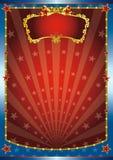 błękitny czerwieni przedstawienie Obraz Royalty Free