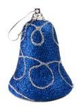 błękitny dekoraci handbell nowy drzewny rok Zdjęcie Stock