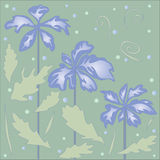 błękitny delikatni kwiaty ilustracji