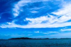 błękitny denny niebo Obrazy Royalty Free