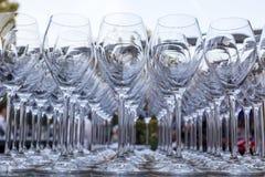 błękitny dof szkieł płycizny wino Obraz Royalty Free