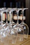 błękitny dof szkieł płycizny wino Zdjęcie Stock