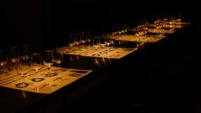 błękitny dof szkieł płycizny wino Obrazy Stock