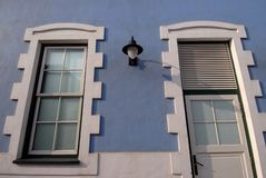 błękitny dom zewnętrzne Zdjęcia Royalty Free