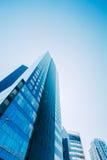 Błękitny drapacza chmur tło Nowożytna architektura W Estońskiej nakrętce Zdjęcie Royalty Free