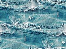 Błękitny drelich - abstrakcjonistyczny bezszwowy tło zdjęcia stock