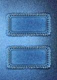 Błękitny drelichowy tło Zdjęcia Stock