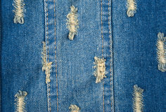 Błękitny drelichowy tło szorstki płótno Obraz Royalty Free
