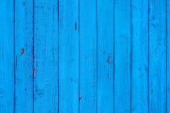 Błękitny drewniany podławy deseniowy bezszwowy Struktur cyan deski pionowo wsiadają Fotografia Stock