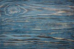 Błękitny drewniany tekstury tło Obrazy Royalty Free