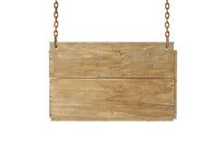 Błękitny drewniany znak Fotografia Royalty Free