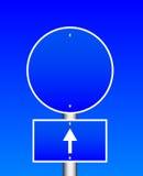 błękitny drogowy znak Obrazy Royalty Free