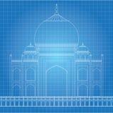 Błękitny druk Taj Mahal Fotografia Stock