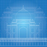 Błękitny druk Taj Mahal Zdjęcie Royalty Free