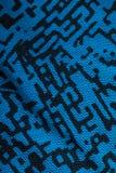 Błękitny drukowany płótno dla tła zdjęcie stock