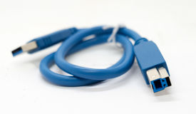 Błękitny drut jest dla łączyć Fotografia Royalty Free