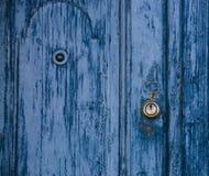 błękitny drzwi Fotografia Royalty Free