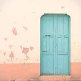 błękitny drzwi Obraz Royalty Free