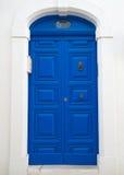 błękitny drzwiowy drewniany Obraz Royalty Free